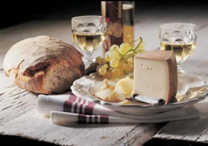 plateau fromage vin
