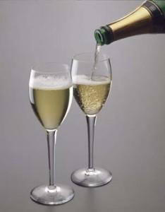 servir le champagne