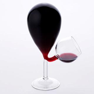 Carafe Prestige avec 4 verres à vin Translucide  Les objets pub