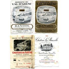 etiquettes anciennes de vin de collection