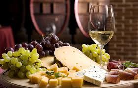 vin blanc et fromage